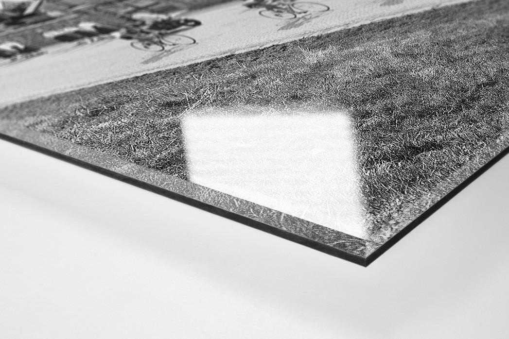 Vorbei am Friedhof bei Lüttich-Bastogne-Lüttich als Direktdruck auf Alu-Dibond hinter Acrylglas (Detail)