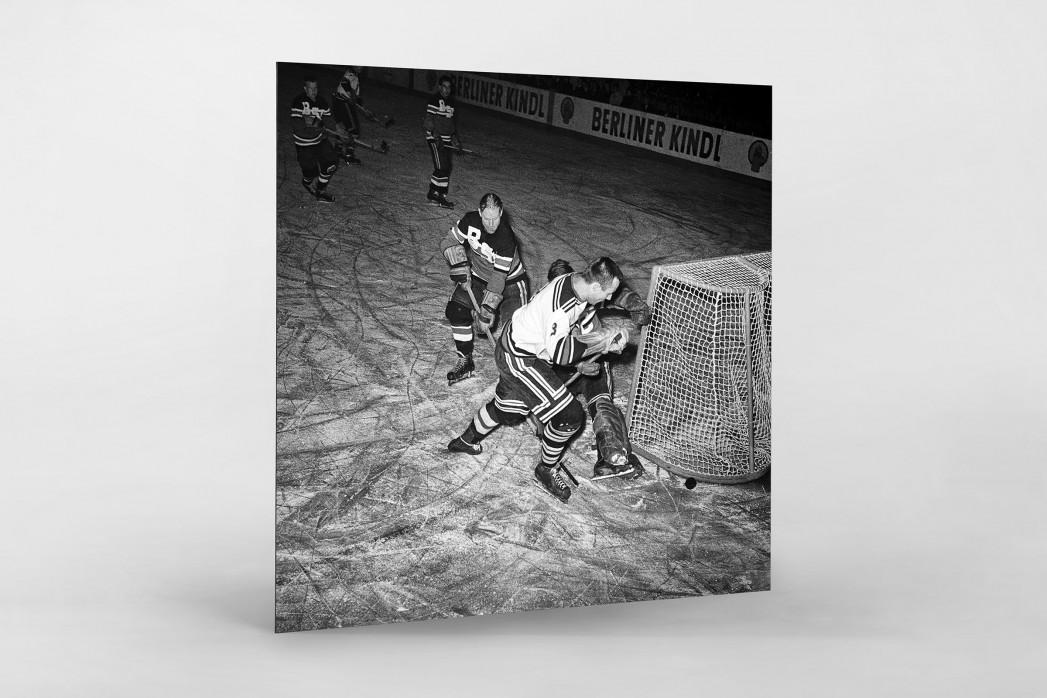 Eishockey in Berlin 1961 als auf Alu-Dibond kaschierter Fotoabzug