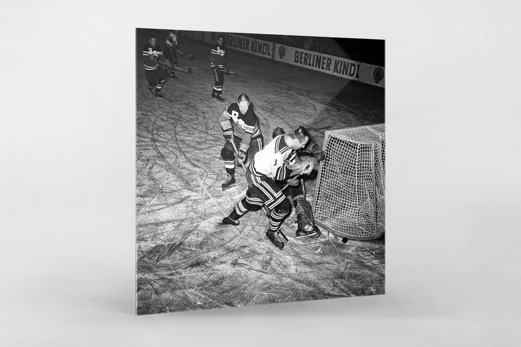 Eishockey in Berlin 1961 als Direktdruck auf Alu-Dibond hinter Acrylglas