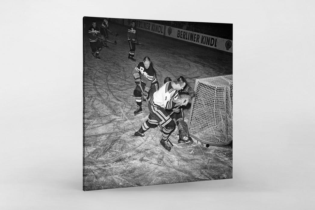 Eishockey in Berlin 1961 als Leinwand auf Keilrahmen gezogen