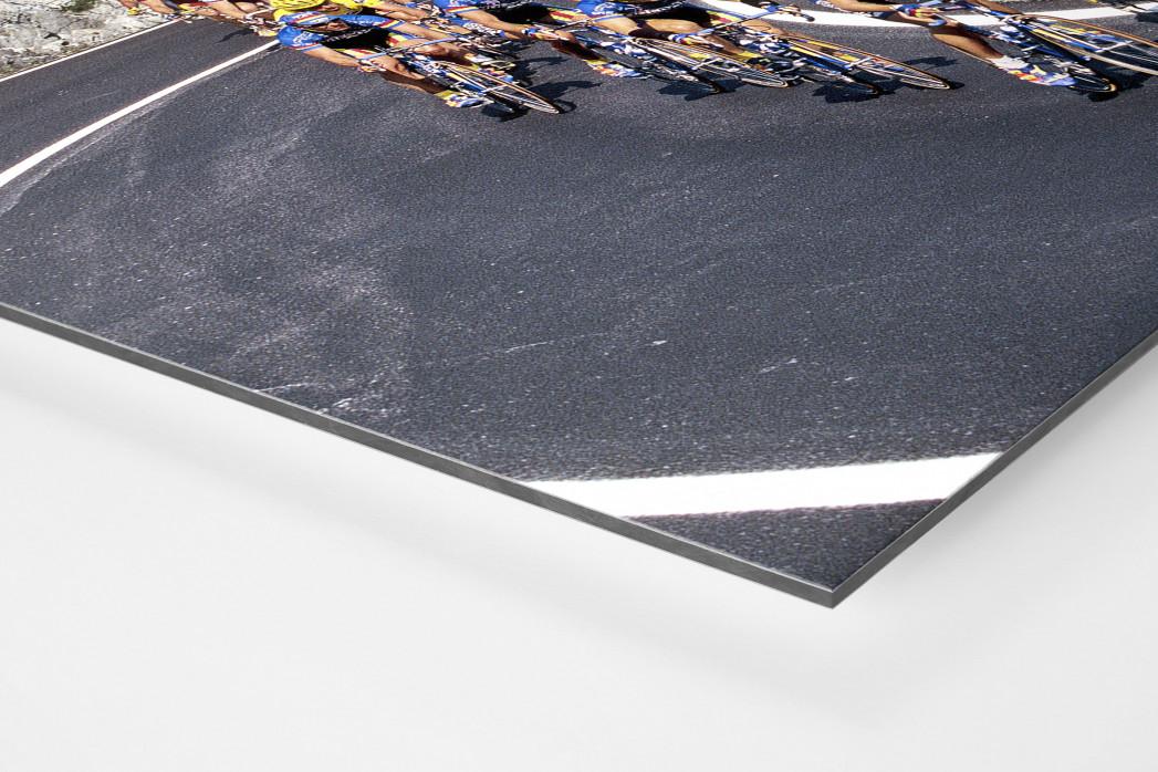 Kurven bei Mailand-Sanremo als auf Alu-Dibond kaschierter Fotoabzug (Detail)