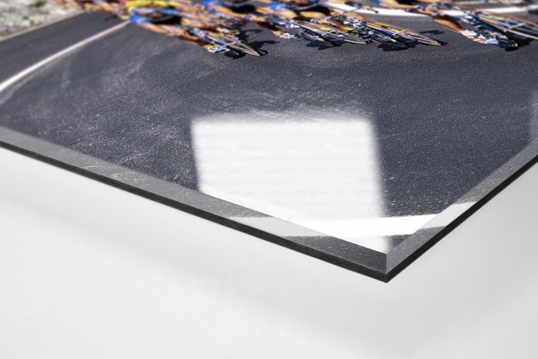 Kurven bei Mailand-Sanremo als Direktdruck auf Alu-Dibond hinter Acrylglas (Detail)