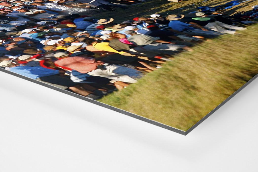 Schlag aus dem Zuschauerbereich als auf Alu-Dibond kaschierter Fotoabzug (Detail)