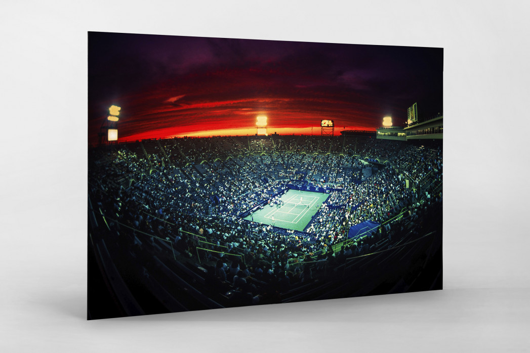 Centre Court bei Sonnenuntergang als auf Alu-Dibond kaschierter Fotoabzug