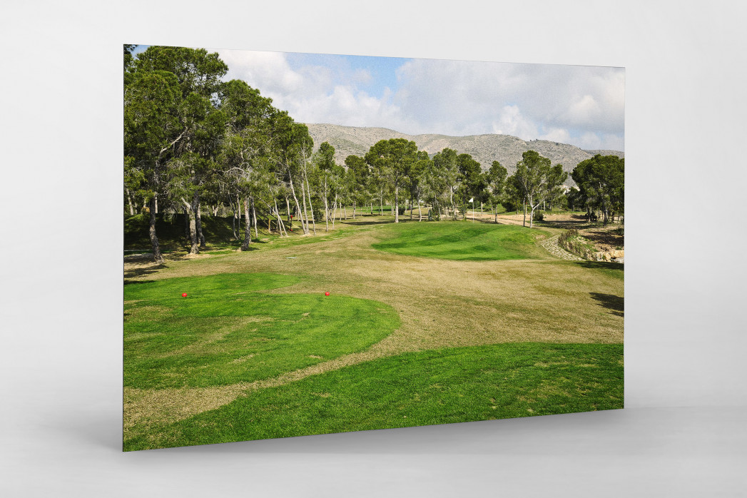 Benidorm Golfresort als auf Alu-Dibond kaschierter Fotoabzug