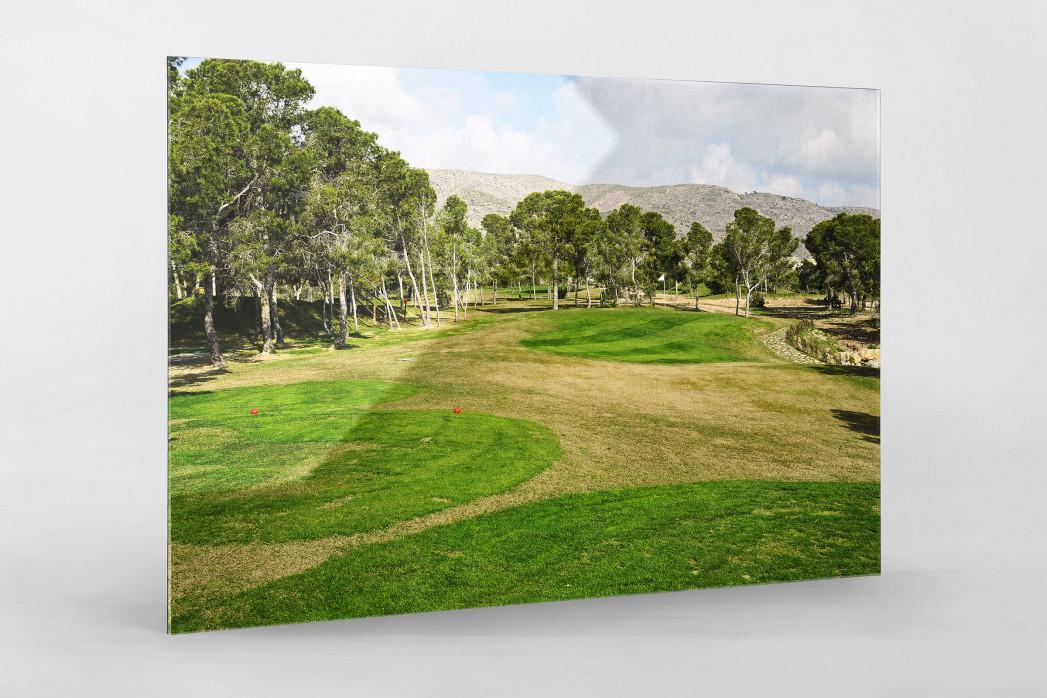 Benidorm Golfresort als Direktdruck auf Alu-Dibond hinter Acrylglas