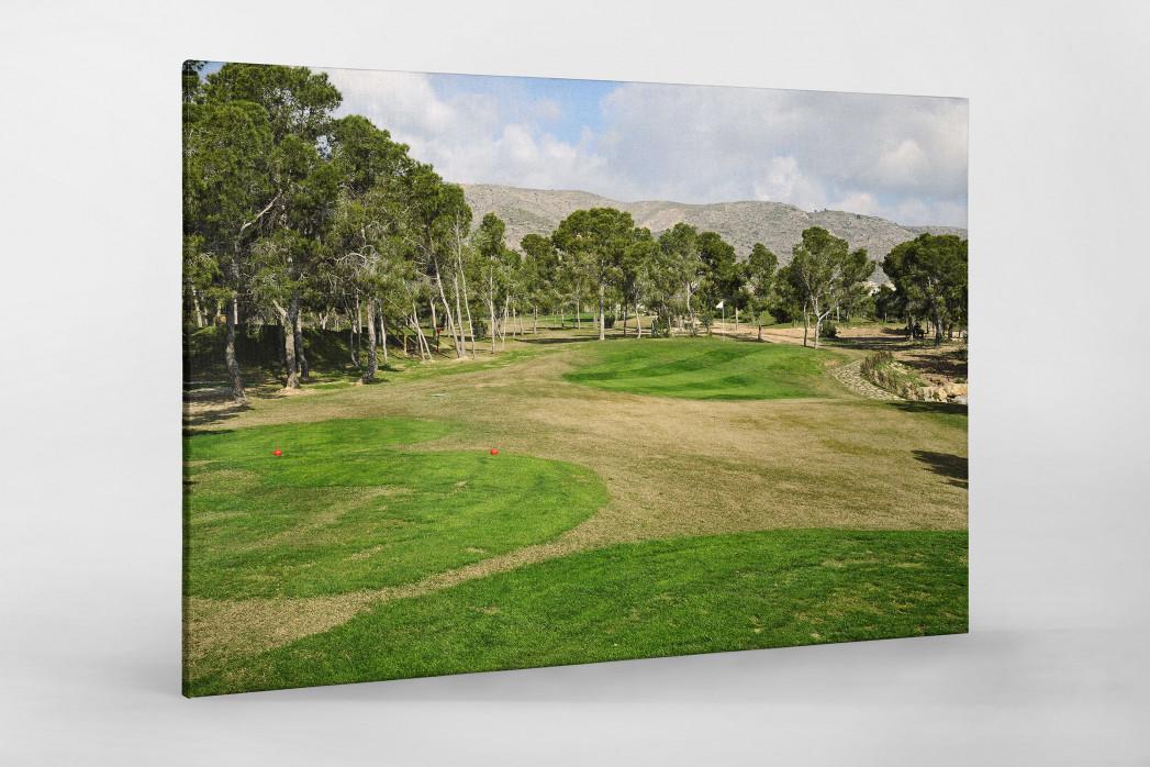 Benidorm Golfresort als Leinwand auf Keilrahmen gezogen