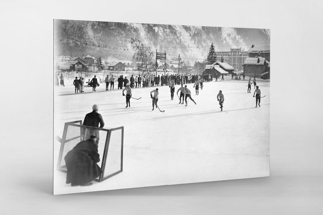 Eishockey in Chamonix (3) als auf Alu-Dibond kaschierter Fotoabzug