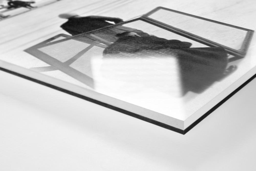 Eishockey in Chamonix (3) als Direktdruck auf Alu-Dibond hinter Acrylglas (Detail)