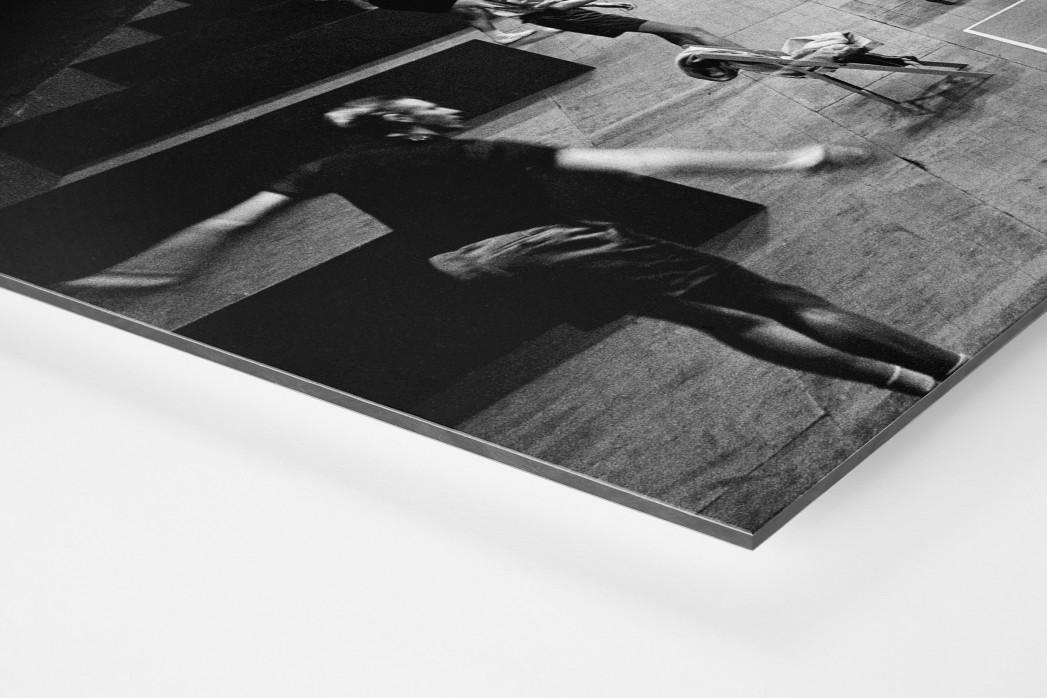 Tischtennis 1954 als auf Alu-Dibond kaschierter Fotoabzug (Detail)