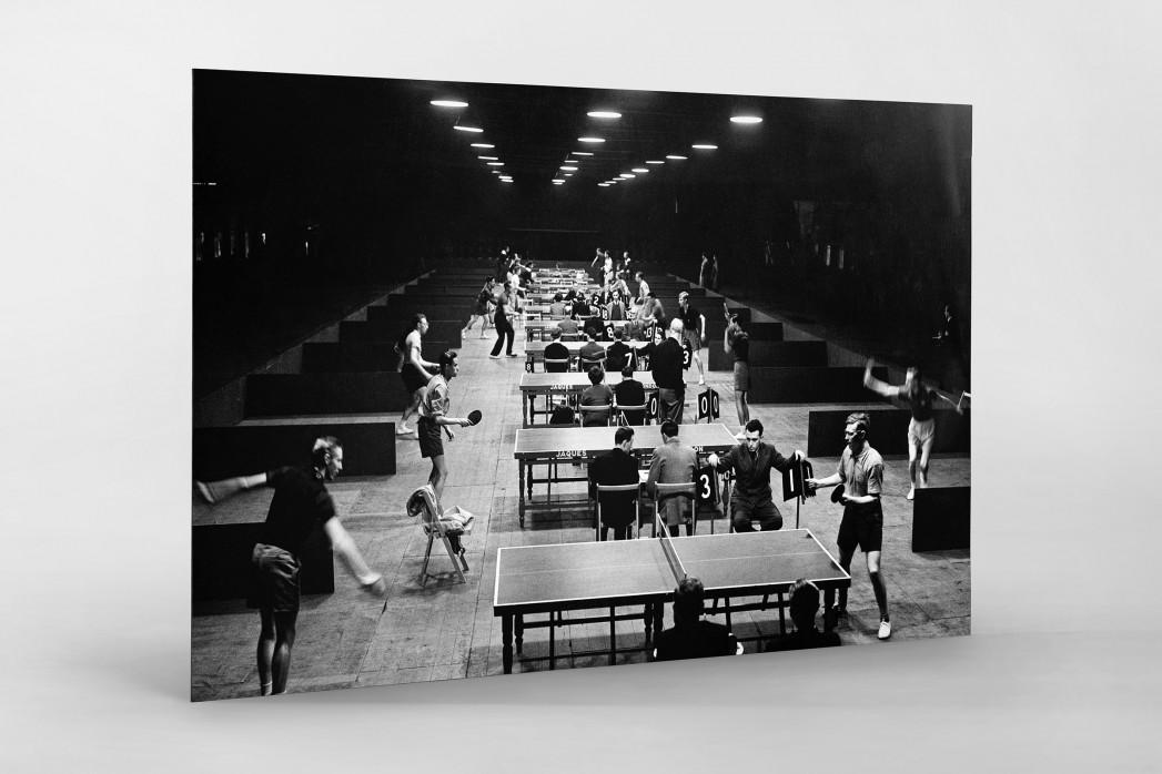 Tischtennis 1954 als auf Alu-Dibond kaschierter Fotoabzug