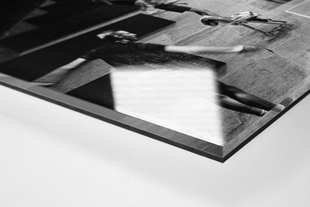 Tischtennis 1954 als Direktdruck auf Alu-Dibond hinter Acrylglas (Detail)