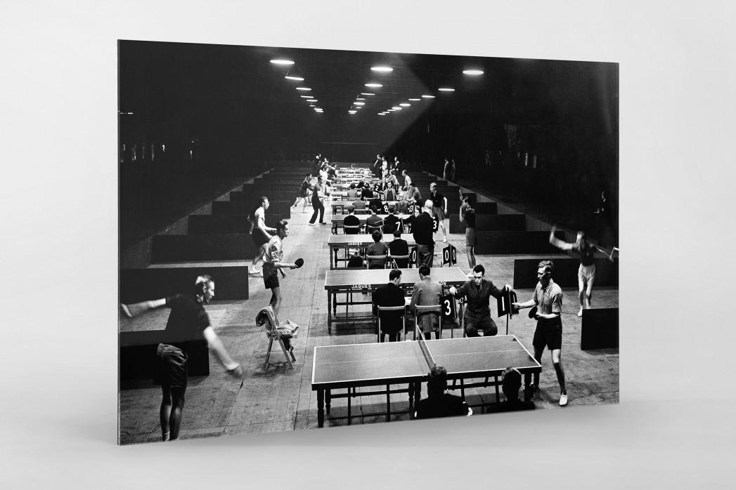 Tischtennis 1954 als Direktdruck auf Alu-Dibond hinter Acrylglas
