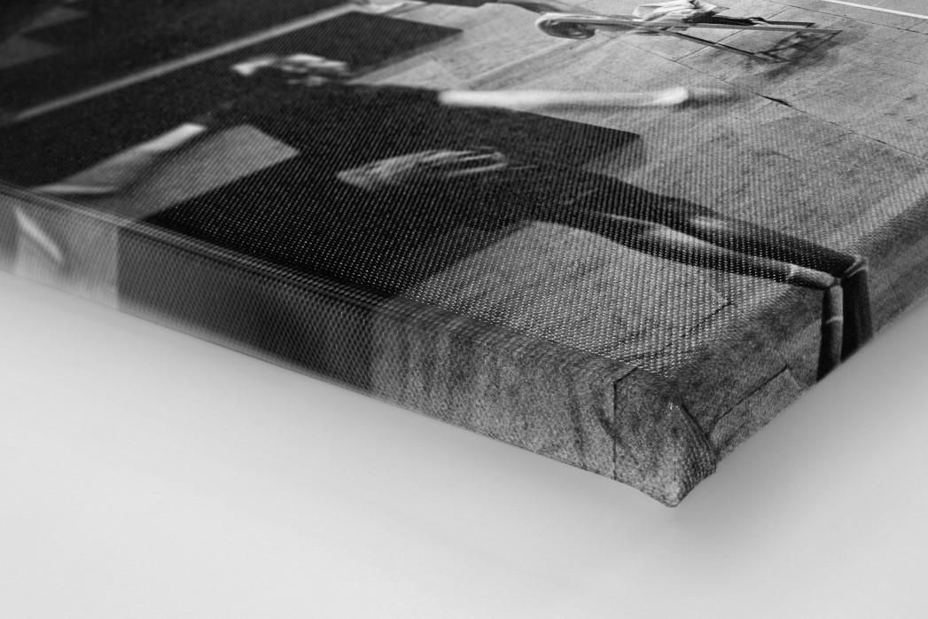 Tischtennis 1954 als Leinwand auf Keilrahmen gezogen (Detail)
