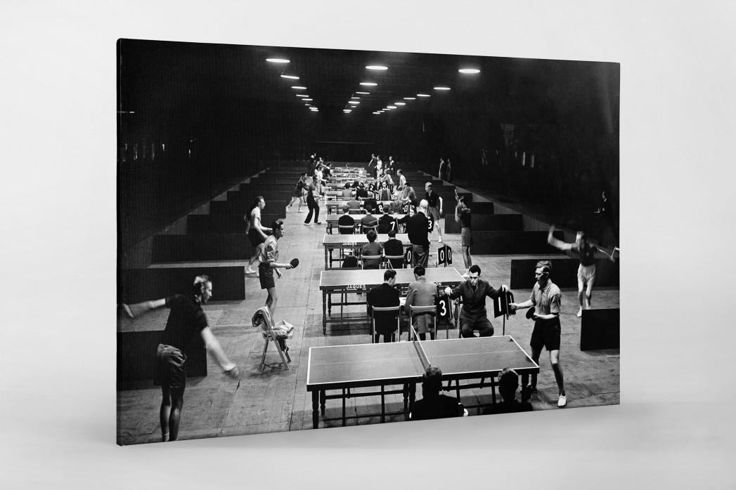 Tischtennis 1954 als Leinwand auf Keilrahmen gezogen