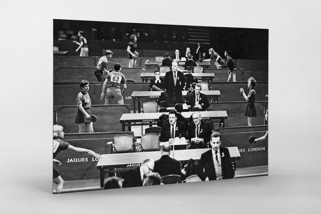 Tischtennis 1966 als auf Alu-Dibond kaschierter Fotoabzug