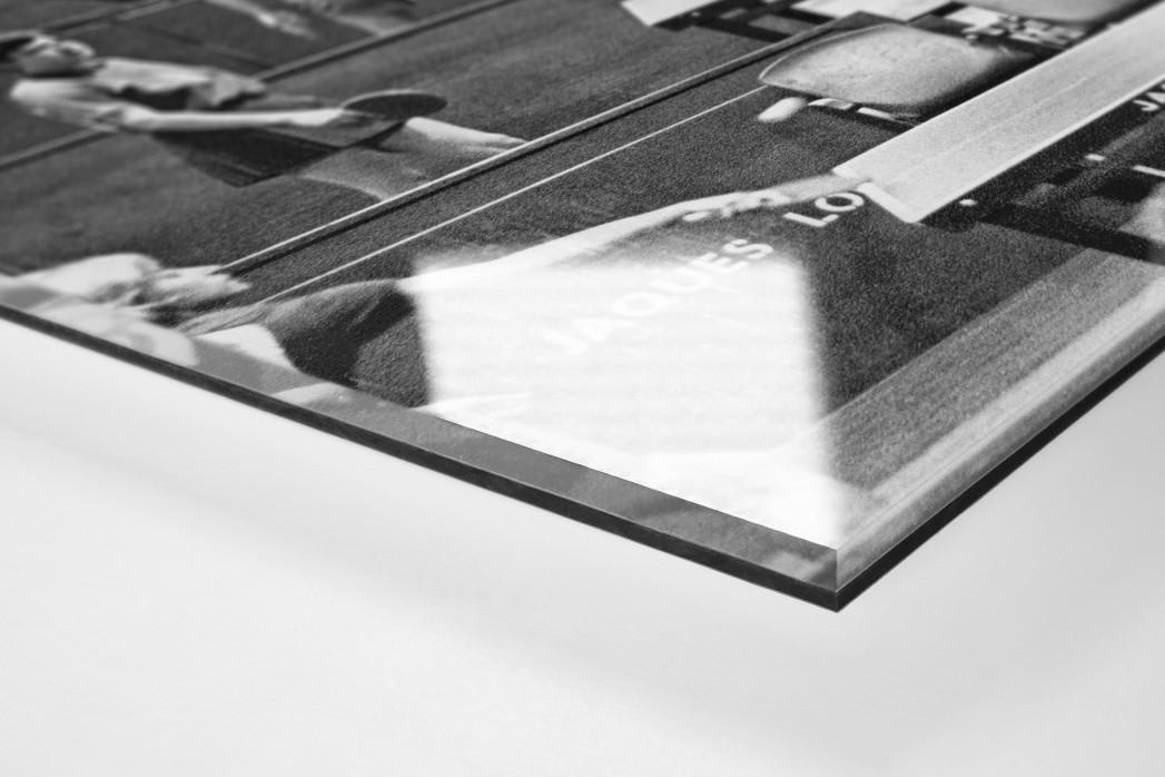 Tischtennis 1966 als Direktdruck auf Alu-Dibond hinter Acrylglas (Detail)