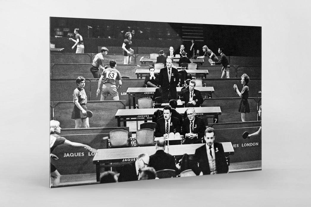 Tischtennis 1966 als Direktdruck auf Alu-Dibond hinter Acrylglas