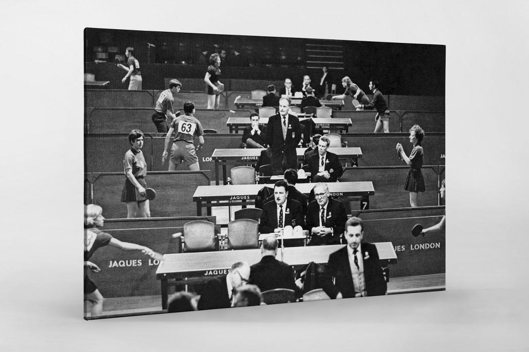 Tischtennis 1966 als Leinwand auf Keilrahmen gezogen
