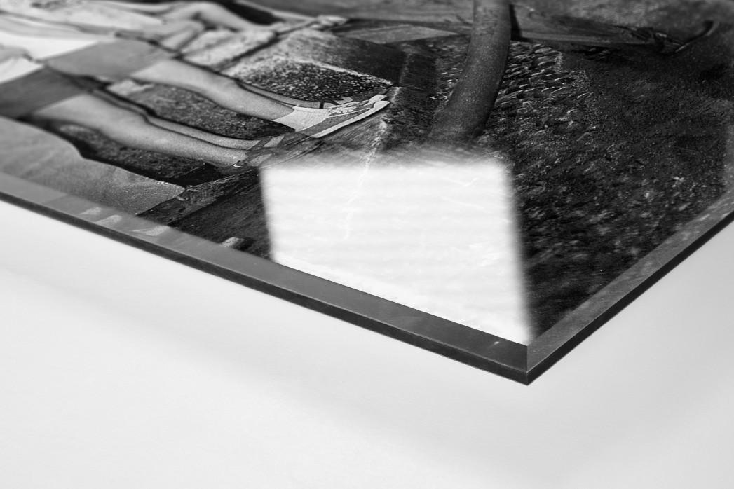 Erfrischung bei der Tour 1961 als Direktdruck auf Alu-Dibond hinter Acrylglas (Detail)