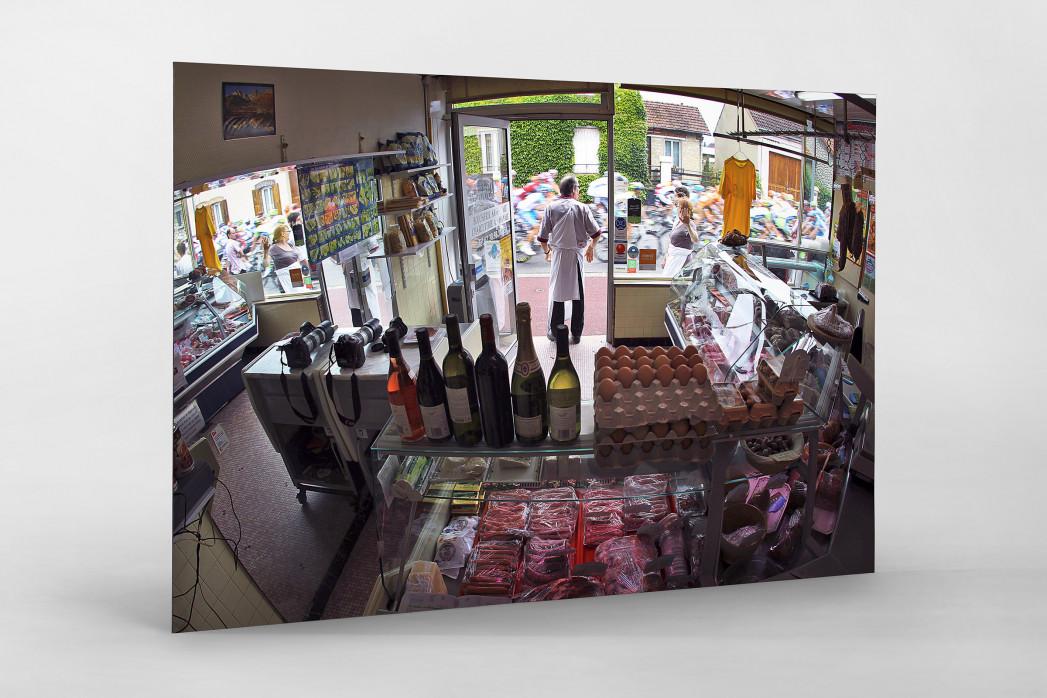 Fleischerei bei der Tour 2010 als auf Alu-Dibond kaschierter Fotoabzug