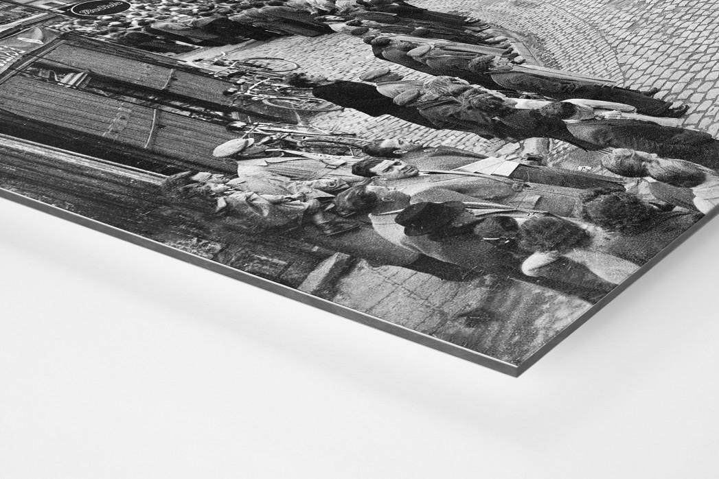 Kurve bei Paris-Roubaix als auf Alu-Dibond kaschierter Fotoabzug (Detail)
