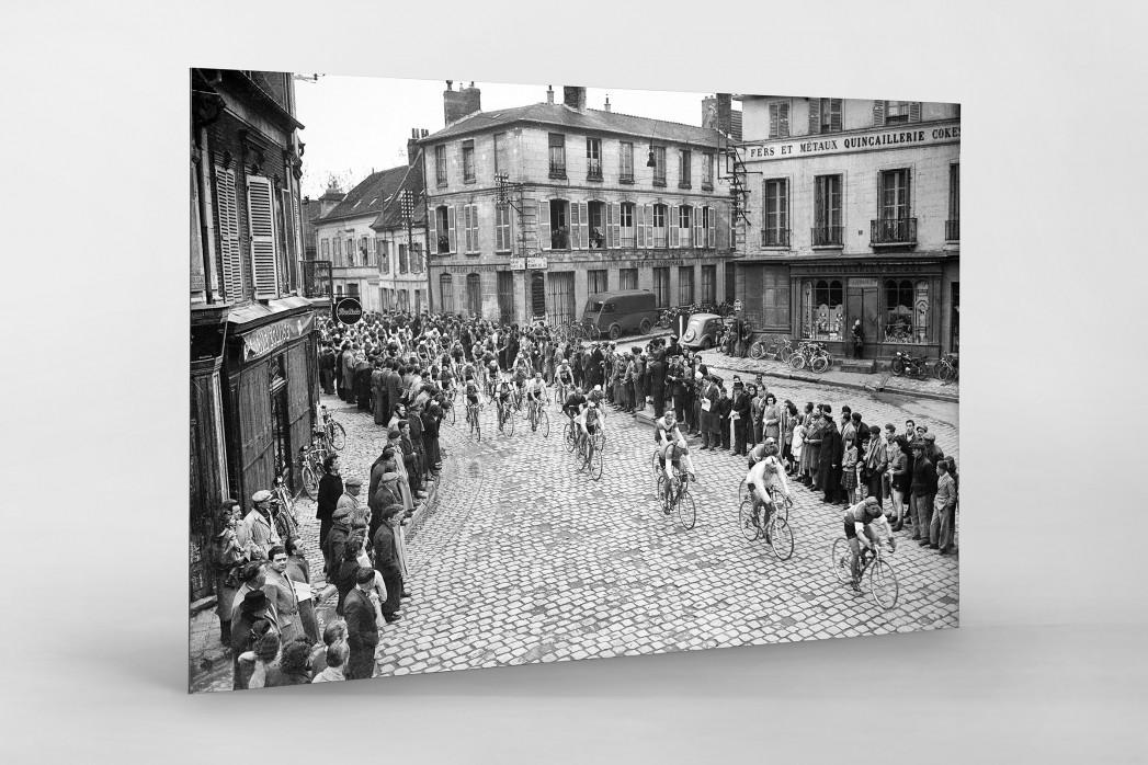 Kurve bei Paris-Roubaix als auf Alu-Dibond kaschierter Fotoabzug