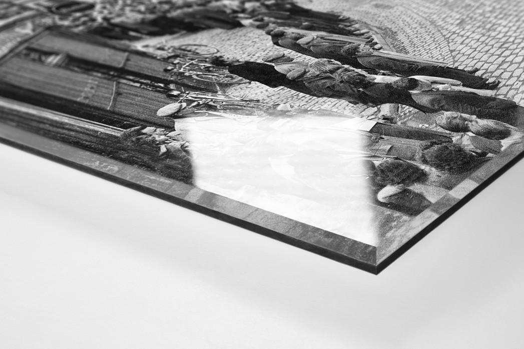 Kurve bei Paris-Roubaix als Direktdruck auf Alu-Dibond hinter Acrylglas (Detail)