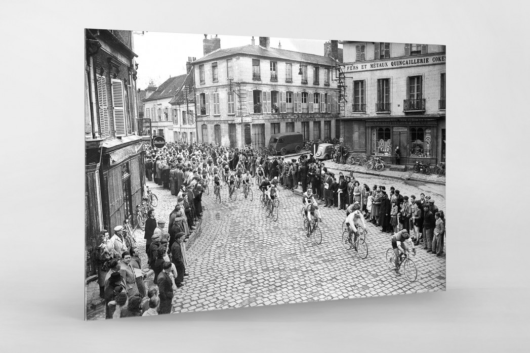 Kurve bei Paris-Roubaix als Direktdruck auf Alu-Dibond hinter Acrylglas