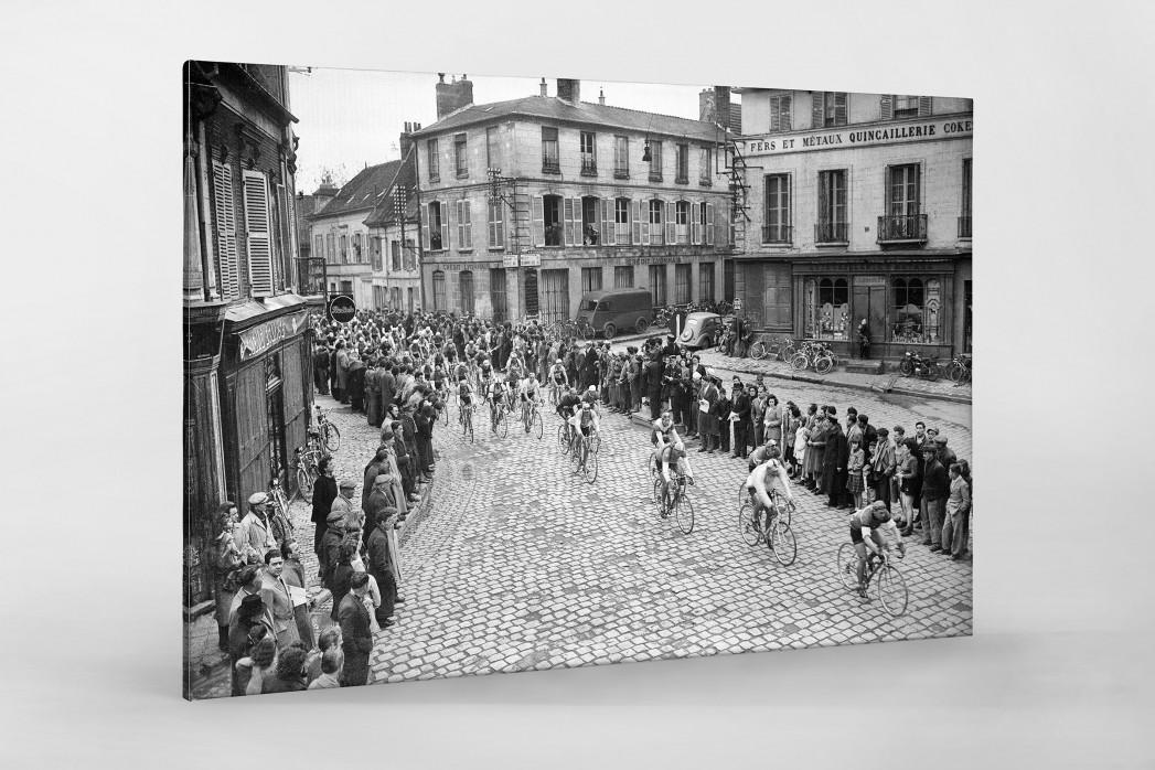 Kurve bei Paris-Roubaix als Leinwand auf Keilrahmen gezogen