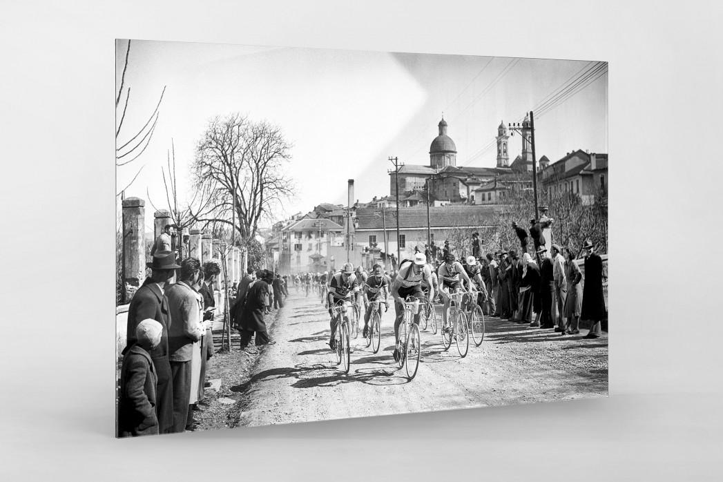 Mailand-Sanremo 1955 als Direktdruck auf Alu-Dibond hinter Acrylglas