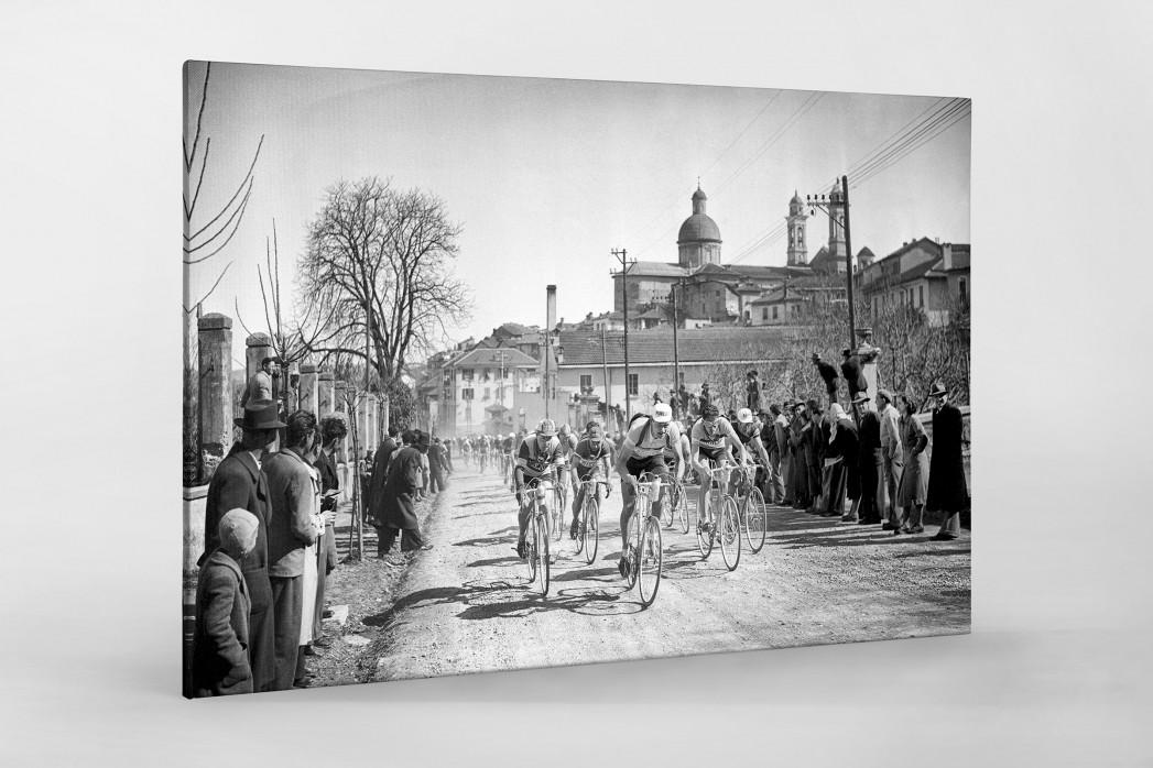 Mailand-Sanremo 1955 als Leinwand auf Keilrahmen gezogen