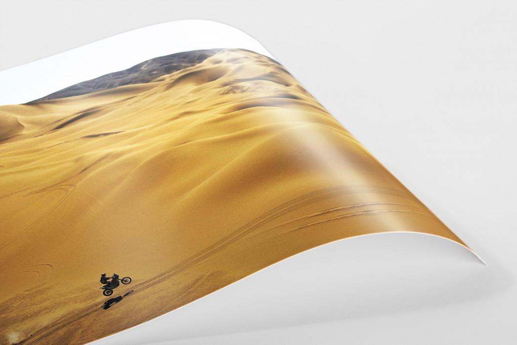 Motorrad im chilenischen Sand (1) als FineArt-Print