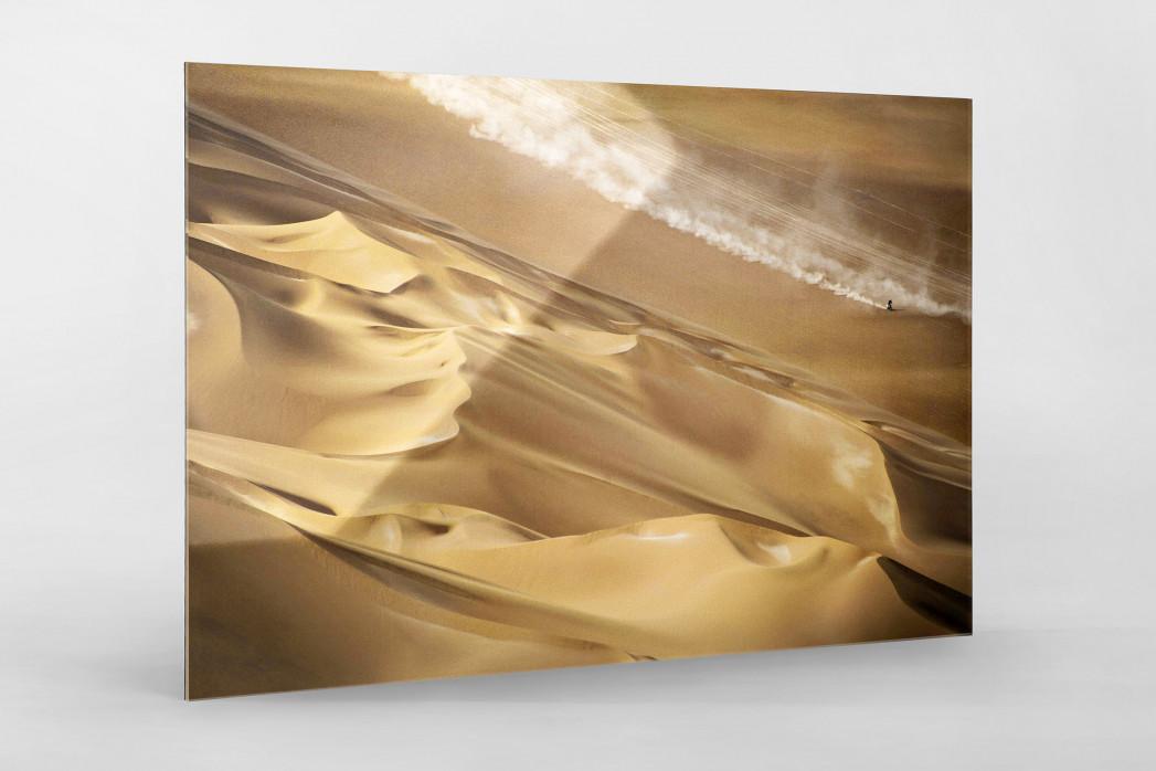 Motorrad im chilenischen Sand (2) als Direktdruck auf Alu-Dibond hinter Acrylglas
