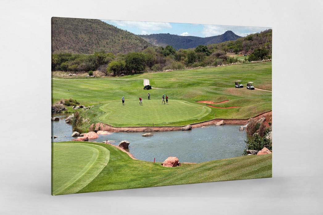 Sun City Golfresort als Leinwand auf Keilrahmen gezogen
