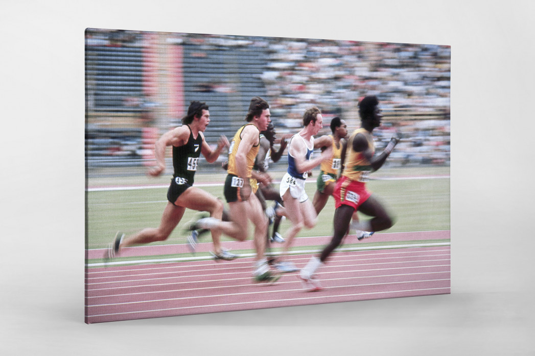 Sprinten 1974 als Leinwand auf Keilrahmen gezogen