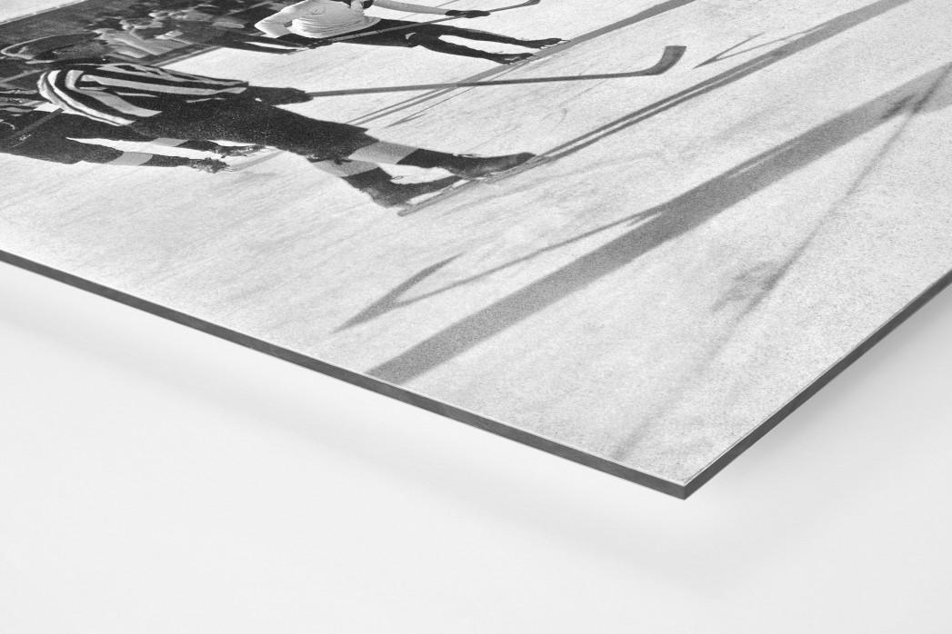 Eishockey in Chamonix (1) als auf Alu-Dibond kaschierter Fotoabzug (Detail)