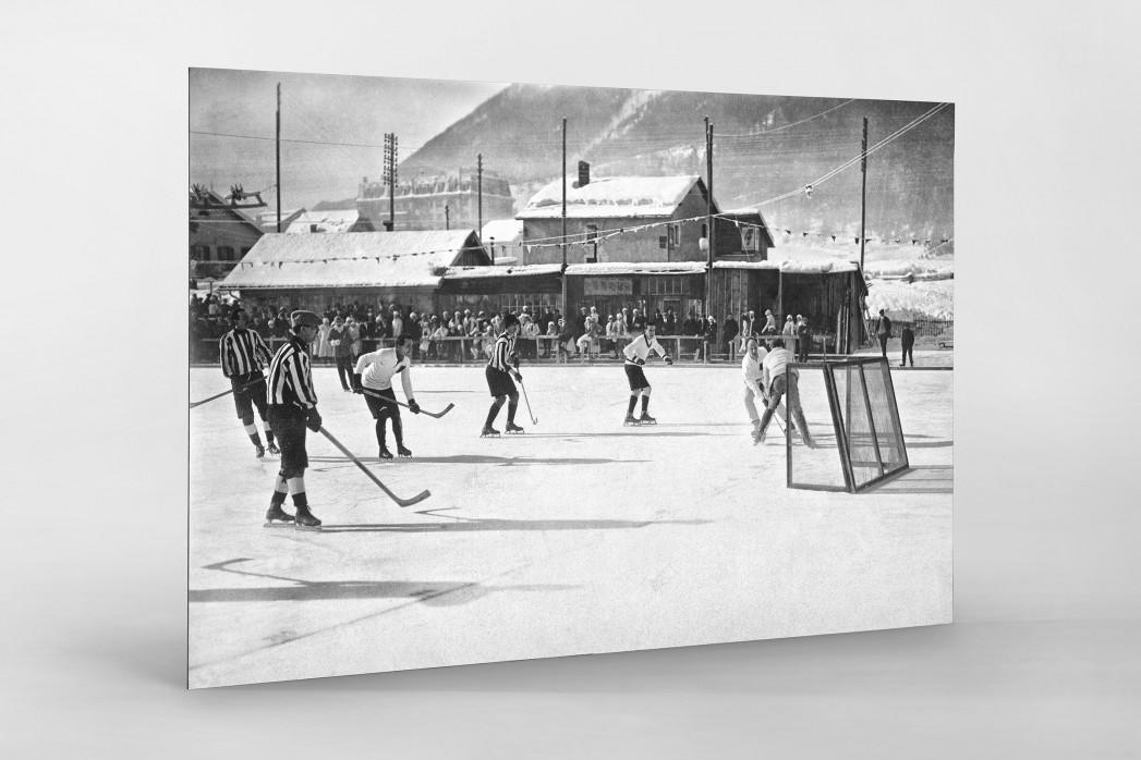 Eishockey in Chamonix (1) als auf Alu-Dibond kaschierter Fotoabzug