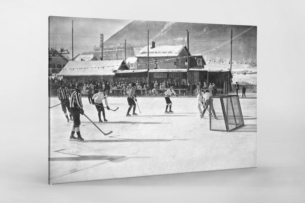 Eishockey in Chamonix (1) als Leinwand auf Keilrahmen gezogen