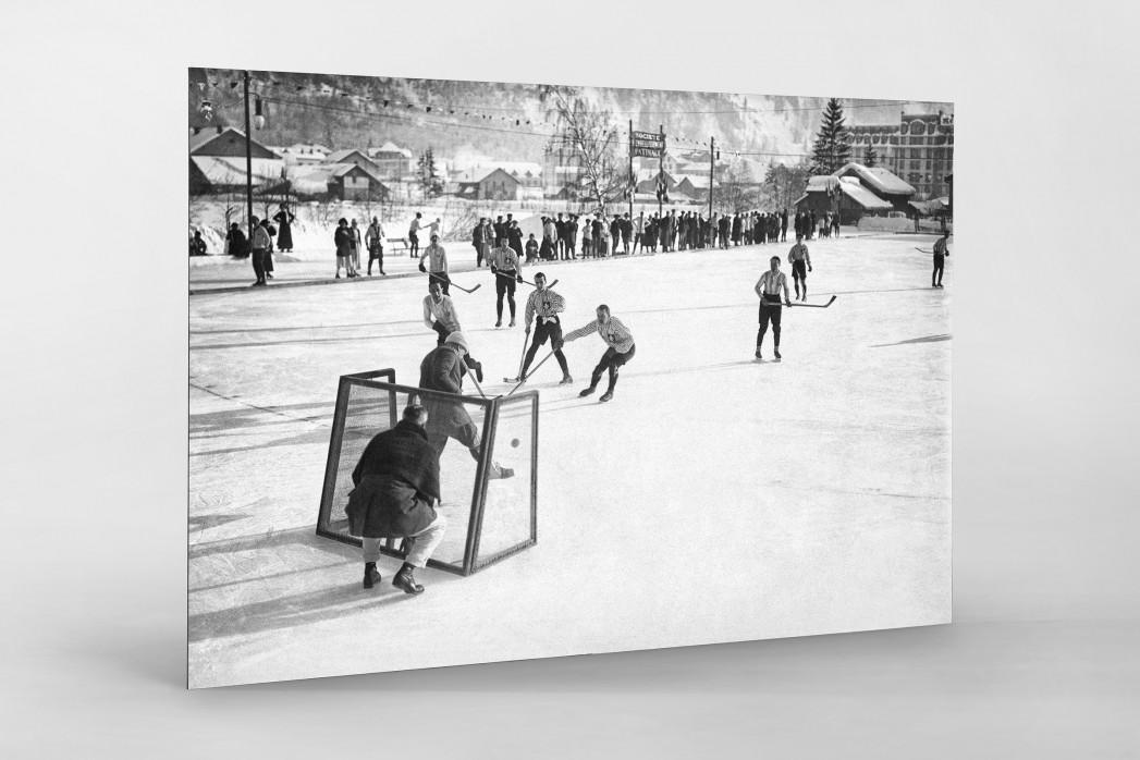 Eishockey in Chamonix (2) als auf Alu-Dibond kaschierter Fotoabzug