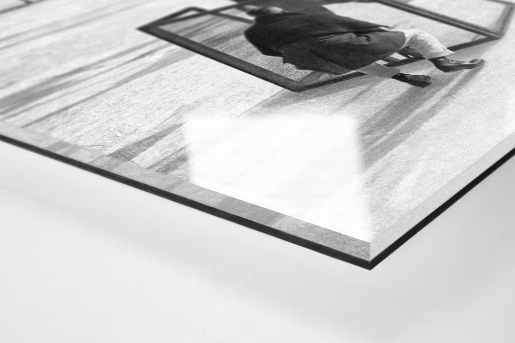 Eishockey in Chamonix (2) als Direktdruck auf Alu-Dibond hinter Acrylglas (Detail)