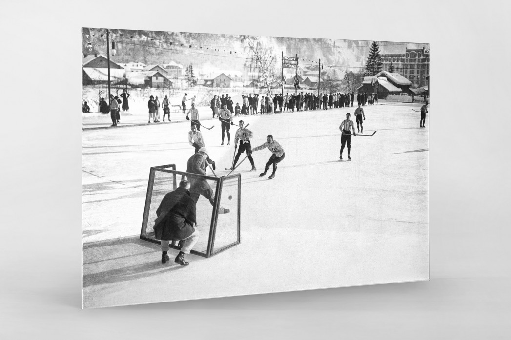 Eishockey in Chamonix (2) als Direktdruck auf Alu-Dibond hinter Acrylglas