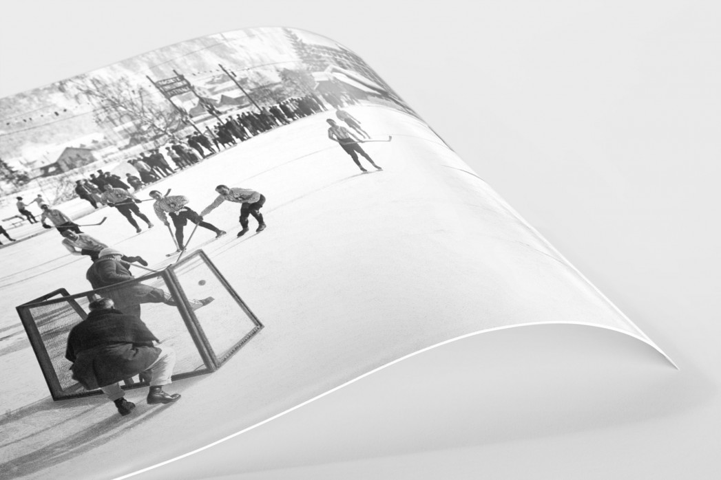 Eishockey in Chamonix (2) als FineArt-Print
