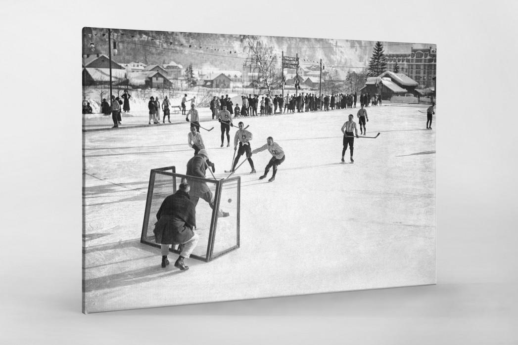 Eishockey in Chamonix (2) als Leinwand auf Keilrahmen gezogen