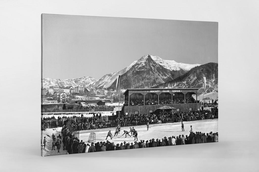 Hockey Club Davos als Leinwand auf Keilrahmen gezogen