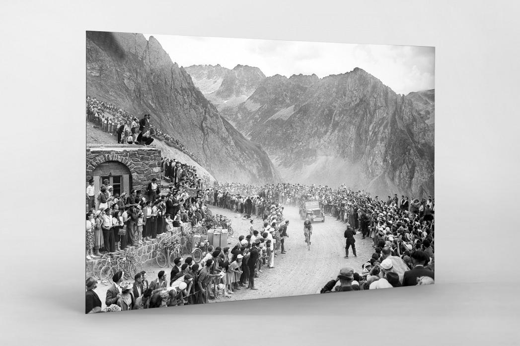 Am Col du Tourmalet bei der Tour 1950 als auf Alu-Dibond kaschierter Fotoabzug