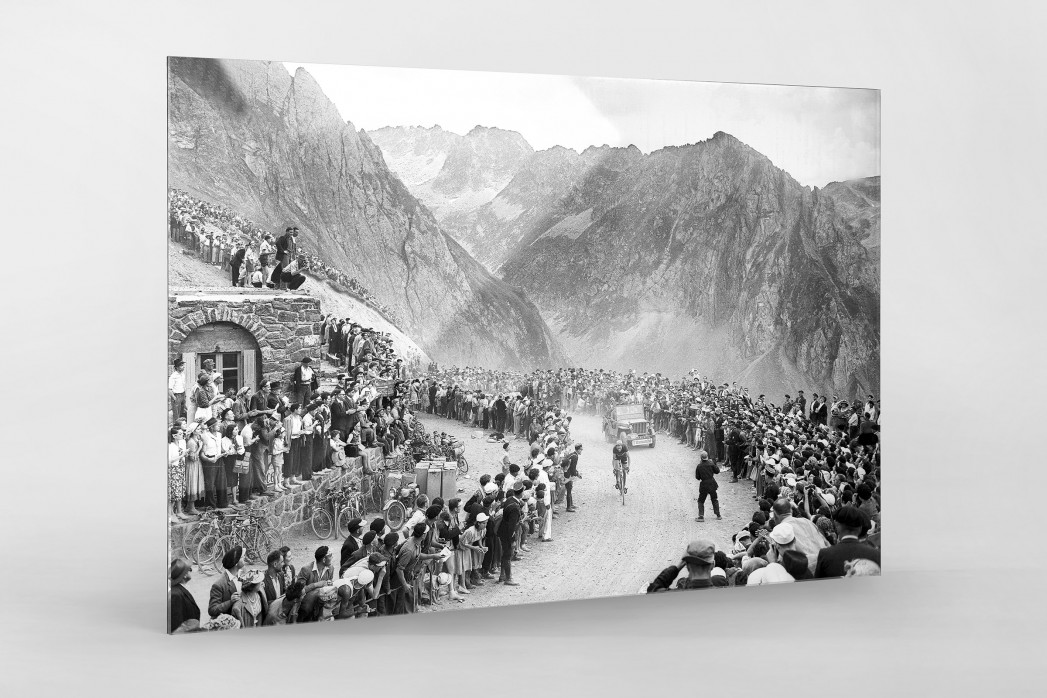 Am Col du Tourmalet bei der Tour 1950 als Direktdruck auf Alu-Dibond hinter Acrylglas