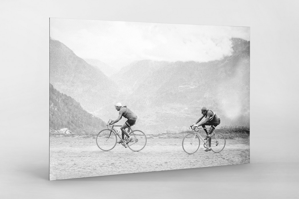 Hinterher bei der Tour 1949 als auf Alu-Dibond kaschierter Fotoabzug