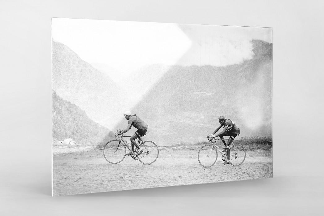 Hinterher bei der Tour 1949 als Direktdruck auf Alu-Dibond hinter Acrylglas
