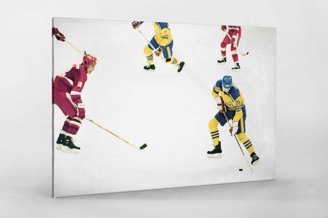 UDSSR vs. Schweden 1984 als Leinwand auf Keilrahmen gezogen